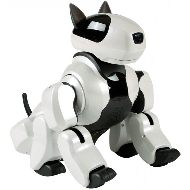 White Genibo SD Robotic Dog Artificial Intelligence Pet Robot