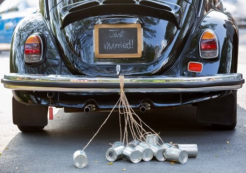 Getaway wedding car tradition