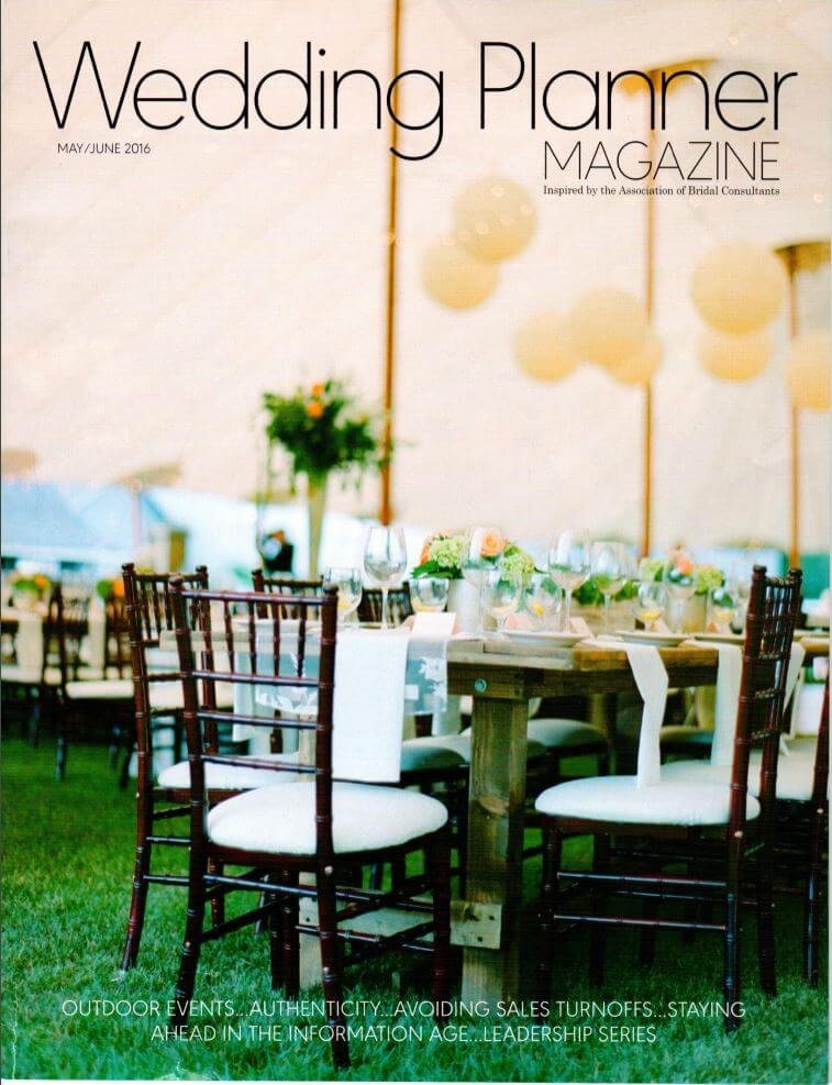 Wedding planner magazine cover may/June 2016
